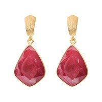 Juvi Glamour Puss Earrings With Ruby Red