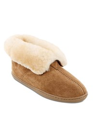 Minnetonka Shearling Lined Ankle Boot Tan