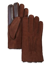 Ugg Sheepskin 3 Point Tech Gloves Chocolate