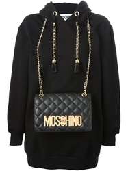 Moschino Shoulder Bag Sweatshirt Black