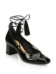 Schutz Ariana Patent Leather Lace Up Pump Black