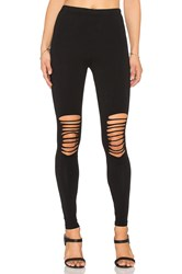 Bobi Cotton Lycra Slashed Legging Black
