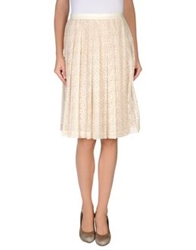 Derek Lam Knee Length Skirts Beige