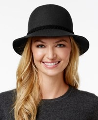 Nine West Braided Band Felt Cloche Black