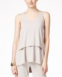 Alfani Petite High Low Layered Tank Top Only At Macy's French Stone