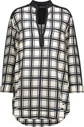 Proenza Schouler Checked Cotton And Silk Blend Tunic Off White