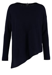 Cocoa Cashmere Jumper Navy Dark Blue