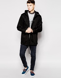 New Look Military Parka Jacket Black