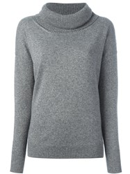 Blumarine Cowl Neck Sweater Grey