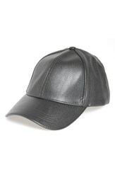 David And Young Women's Faux Leather Ball Cap Grey