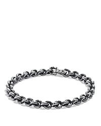 David Yurman Petrvs Chain Bracelet Black Silver