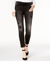Tommy Hilfiger Ripped Embellished Black Wash Skinny Jeans Only At Macy's