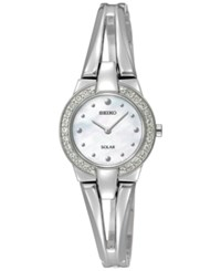Seiko Women's Solar Tressia Stainless Steel Bangle Bracelet Watch 30Mm Sup231 A Macy's Exclusive