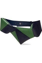 Jil Sander Two Tone Leather Belt Green