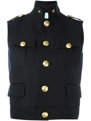 Dsquared2 'Army' Sleeveless Military Jacket Black