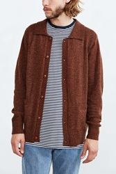 Obey Check Point Cardigan Brown