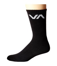 Rvca Va Sport Sock Black Men's Crew Cut Socks Shoes