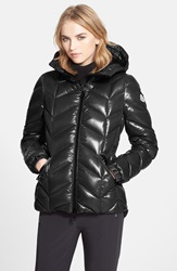 Moncler 'Badete' Hooded Down Puffer Coat Black