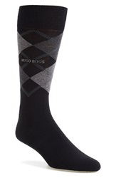 Boss 'James' Argyle Socks Black