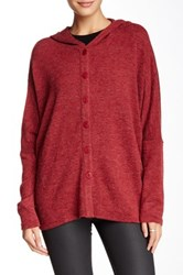 Lulu Hooded Dolman Cardigan Red