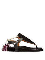 Isabel Marant Lee Tassel Suede Sandals Black