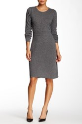 Cullen Seamed Cashmere Sweater Dress Gray