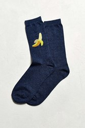 Urban Outfitters Banana Sock Navy