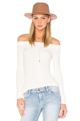 Gettingbacktosquareone Off The Shoulder Long Sleeve Top White
