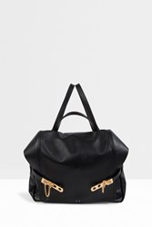 Anthony Vaccarello Gold Hardware Backpack Black