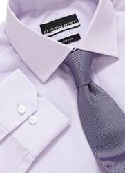 Austin Reed Hairline Stripe Shirt Lilac