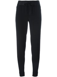 Dkny Tapered Drawstring Trousers Black