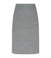Armani Collezioni Textured Houndstooth Pencil Skirt Female Multi