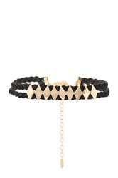 Ettika Double Braided Choker Black