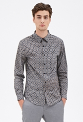Forever 21 Foulard Print Collared Shirt