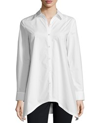 Derek Lam 10 Crosby Long Sleeve Tie Back Shirt Soft White Size 2