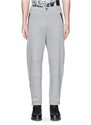 Alexander Mcqueen Zip Cuff Organic Cotton Sweatpants Grey