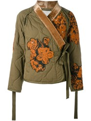 3.1 Phillip Lim Quilted Utility Kimono Green