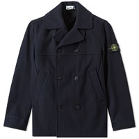 Stone Island Panno Speciale Melton Wool Peacoat Blue
