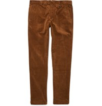 Oliver Spencer Fishtail Cotton Corduroy Trousers Tan