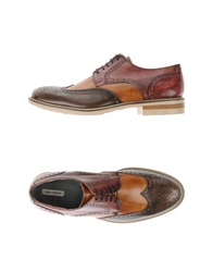 Primo Emporio Lace Up Shoes Maroon
