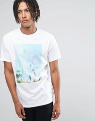 Billabong Tropical Printed T Shirt White