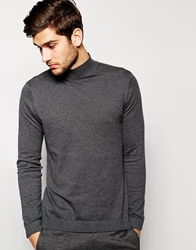 Asos Turtle Neck Jumper Charcoal