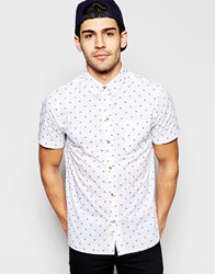 Native Youth Woven Short Sleeve Shirt White