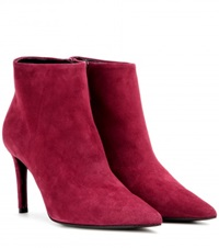 Balenciaga Suede Ankle Boots Red