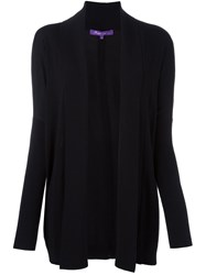 Ralph Lauren Purple Fine Knit Cardi Coat Black