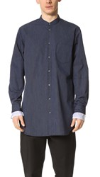 3.1 Phillip Lim Shirt With Tromp L'oeil Sleeve Cuffs Navy