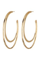 14Th And Union Double Crescent Hoop Earrings Metallic