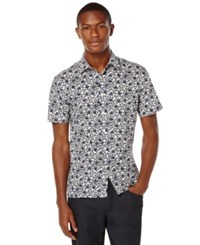 Perry Ellis Big And Tall Mini Flower Short Sleeve Shirt
