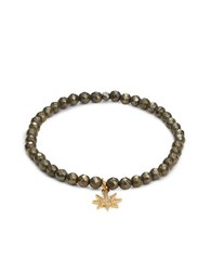 Tai Starburst Accented Beaded Stretch Bracelet Gold