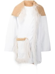 Paco Rabanne Snap Concealed Fastening Coat White